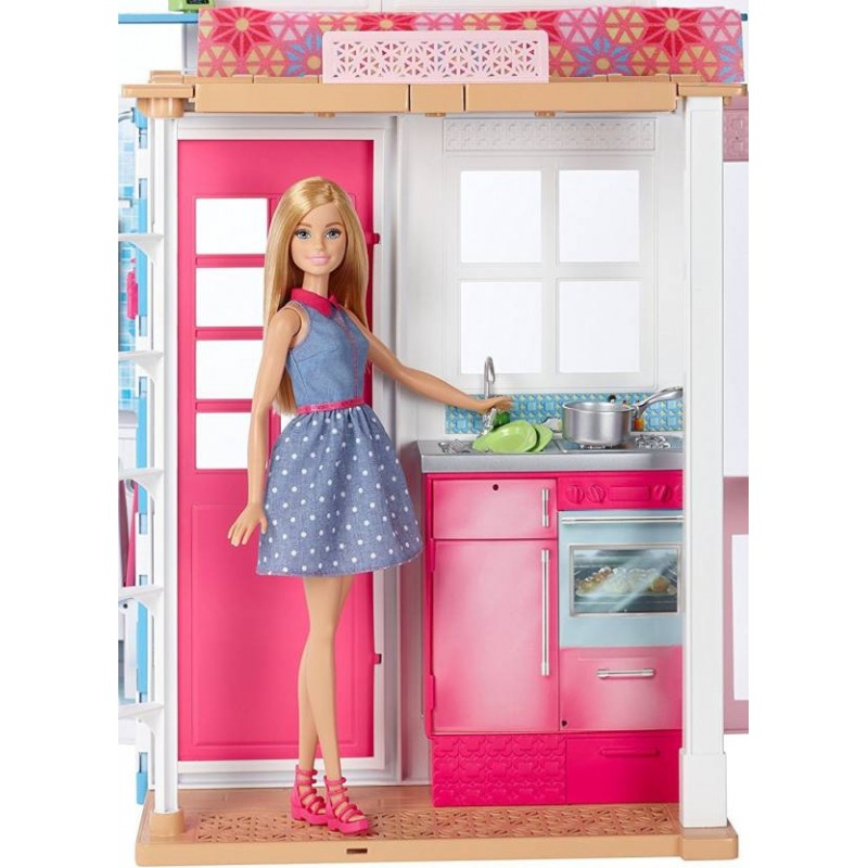 Barbie 2 Story House And Doll