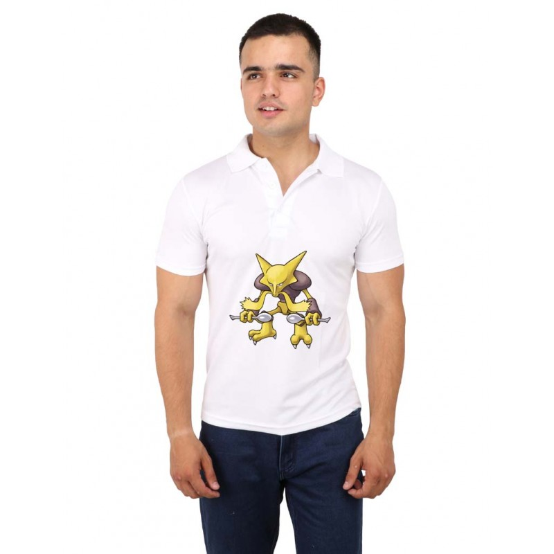 Alakazam Pokemon Polo T-Shirt  For Men
