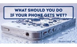 What to do if you phone gets wet !