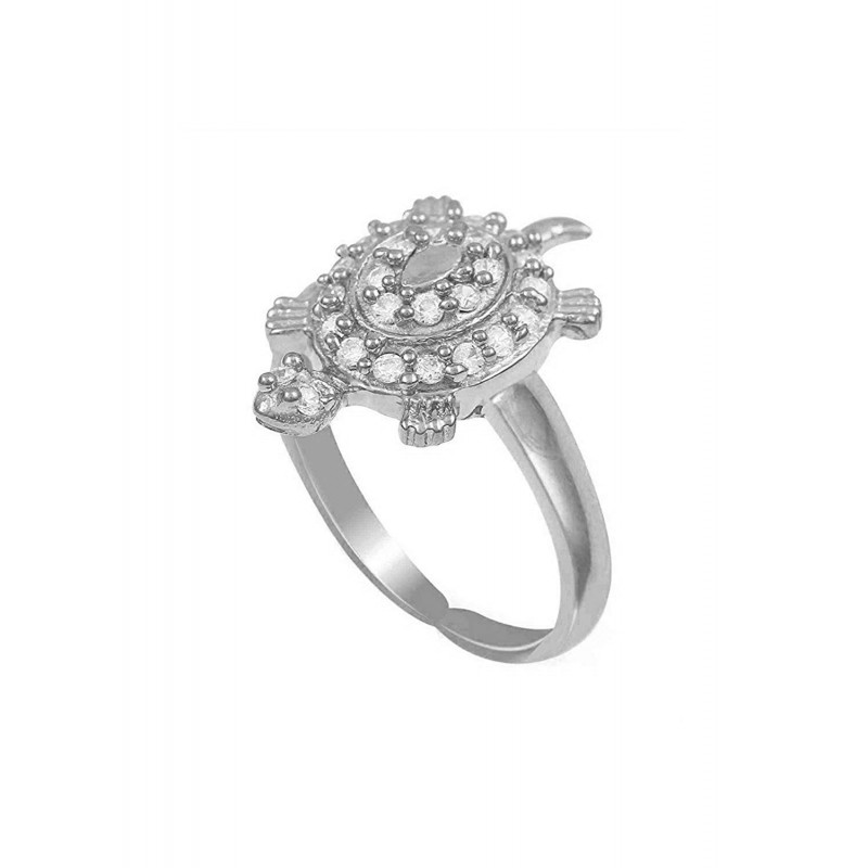 Pure Silver Laxmipati Tortoise Ring for Unisex 925...