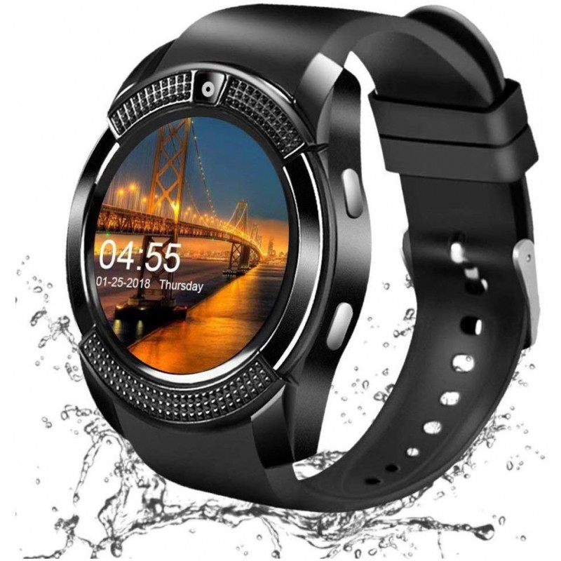 HATHOT V8 Unisex Smartwatch With SIM- Support/32 G...