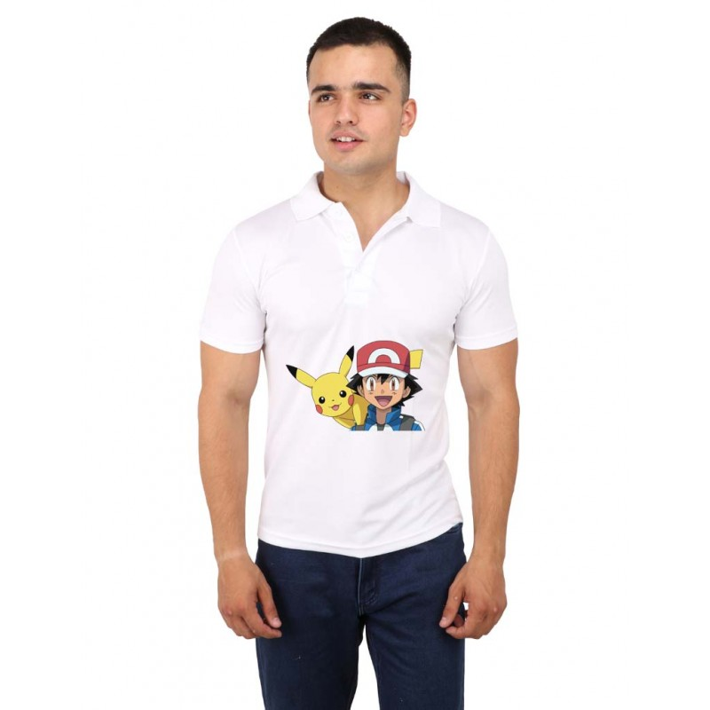 Ash Pikachu Pokemon Polo T-Shirt For Men