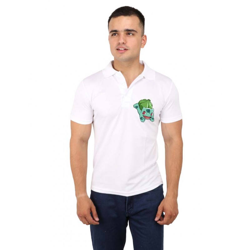 Bulbasaur Pokemon Polo Logo T-Shirt For Men