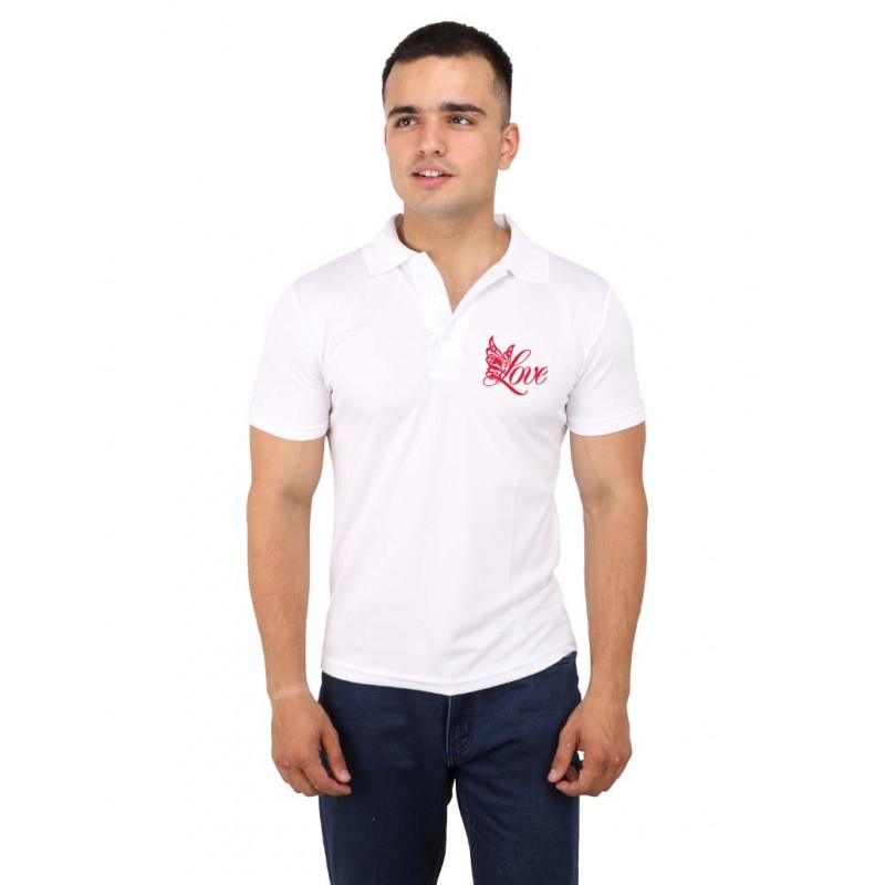Love Pink Polo T-Shirt For Men