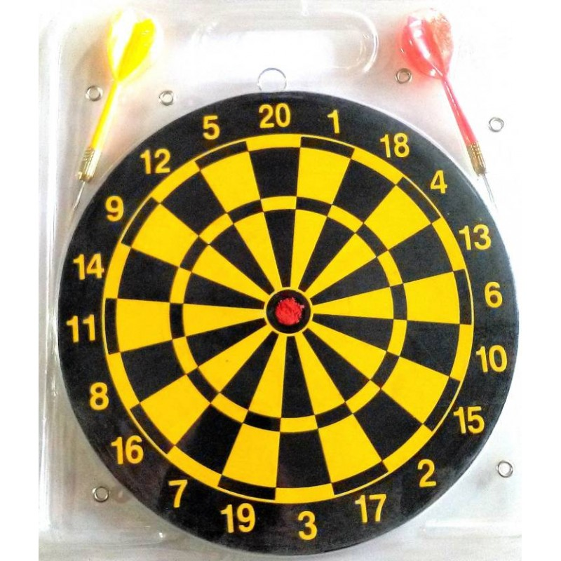 Dart Board Set,Size- 23 cm Multi Color Board Game