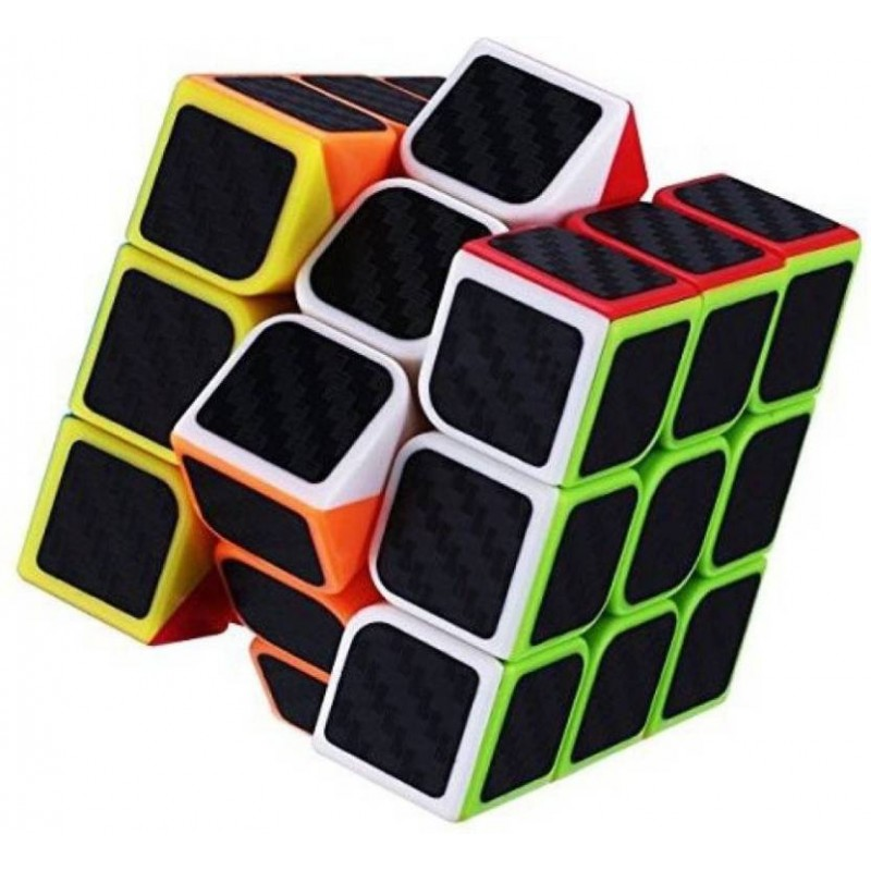 Carbon Fiber Stickers 3x3 Neon Colors High Speed M...