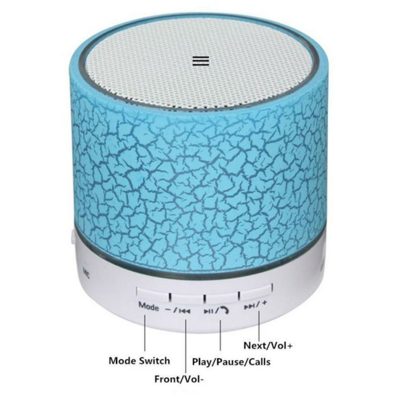 Wireless LED Bluetooth Speaker Music S10 with Calling Functions Compatible for All Smartphones/Pc/Laptop